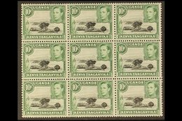 1938-54 10c Black & Green Perf 13 X 11¾ MOUNTAIN RETOUCH (position R. 6/7), SG 135a, Within Superb Never Hinged Mint BLO - Publishers