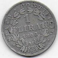 Vatican - 1 Lira   1868 R - Vatican