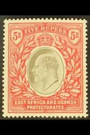 EAST AFRICA & UGANDA 1904 5r Grey And Red, Wmk MCA, Ed VII, SG 30, Very Fine Mint. For More Images, Please Visit Http:// - Publishers