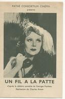 44 ST SEBASTIEN S LOIRE IMAGE FILM   UN FIL A LA PATTE   CINEMA PARLANT SALLE FROMONT RTE CLISSON CHEMIN DU  LARGEAU - Pubblicitari
