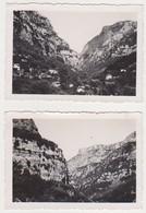 26901 Trois Photos Saut Du Loup Gourdon 06 France - Sans Doute Années 1950 - Lieux