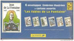Lot 6 PAP Illustrés - LES FABLES DE LA FONTAINE - Neufs,  Sous Blister. 1995. - Prêts-à-poster:  Autres (1995-...)