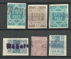 ESTLAND Estonia 1919 Provisional Cancels Provisorische Entwertungen O - Estland