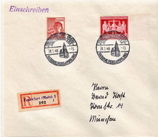 Germany Allied Occupation R Cover To Munich With Frankfurt National Assembly Cancel: National Versammlung 1946 - American,British And Russian Zone