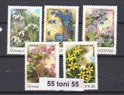 1983 Flora. Spring Flowers  5v.-MNH  USSR - Vegetales