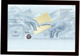 Maroc. Coupon-Réponse International. Valeur D'envoi National Prioritaire Ou Par Avion. 2008-2009. - Morocco (1956-...)