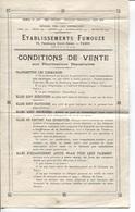 Plaquette Commerciale - TARIF - Ets FUMOUZE - PARIS 10è Ar. - Produits Pharmaceutiques - France