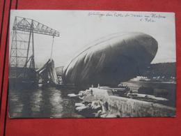 """Pula / Pola - Trümmer Des Luftschiffes """"Citta Di Jesi"""" Im Hafen 1915 - Croazia"""