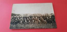 Ancienne Carte Photo D'un Groupe Militaire  Du 16è Chasseurs Guerre 14-15 - Reggimenti