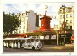 Paris - Le Moulin Rouge Et Le Petit Train De Montmartre - Abeille Cartes Nº 1624 - - Transporte Público
