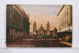 Original Postcard - Postal Mexico - Avenida 20 Noviembre Mexico DF - FEMA Nº 6 - México