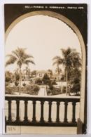 Original Photographic Postcard - Postal Mexico - Parque V. Carranza - Fortin Veracruz - México