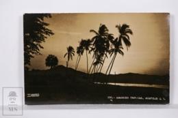 Original Photographic Postcard - Postal Mexico - Tropical Sun Rise - Acapulco - Desentis Jr. - México