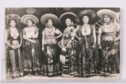 Original Photographic Postcard - Postal Mexico - Chinas Poblanas - Traditional Mexican Costumes - Women - México