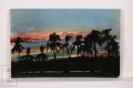 Original Photographic Postcard - Postal Mexico - Villa Del Mar - Crepusculo - Twilight Veracruz - México