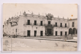 Original Photographic Postcard - Postal Mexico - Teatro Principal - Main Theatre, First Of America - Puebla - México