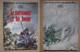 PTILUC . GESTE DE GILLES DE CHIN ET DU DRAGON T1/2 . VENTS D'OUEST (DL 1989/90) - Editions Originales (langue Française)