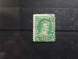 NEW / Nouveau BRUNSWICK, Canada ,1860, Victoria, Yvert No 6, 5 C Vert VARIETE PETIT FORMAT  Obl TB, - Used Stamps
