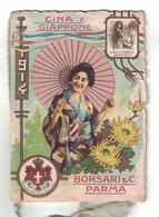 CALENDARIETTO  BORSARI  1914  CINA E GIAPPONE - Calendari