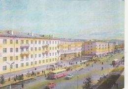 77268- ULAANBAATAR- PEACE AVENUE PANORAMA, BUSS, CAR - Mongolie