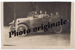 Carte Photo Auto Voiture Automobile Car Militaires Militaire Militaria Tacot à Identifier Oldtimer Grande Guerre Armée - War, Military