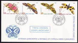 Cyprus, Butterflies, 1997, FDC - Farfalle