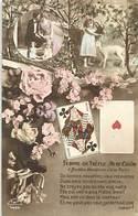 Themes Div-ref BB46-jeux -jeu Cartes A Jouer -femme De Trefle -as De Coeur -petit Plan Chevre Et Mouton - - Cartes à Jouer
