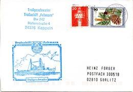 """(FC-13) DEUTSCHE MARINE Cachet-Umschlag BORDSTEMPEL """"Troßschiff Fehmarn A1456 - Troßgeschwader"""" MiF BRD TSt 12.12.1980 - Schiffe"""