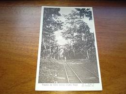 """Postcard, Postal, """"Trecho De Linha Férrea N'uma Roça"""" S Tomé - Sao Tome Et Principe"""