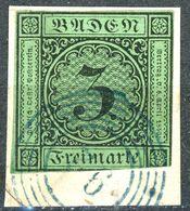 """Guter Blauer Nr.- Stempel """"92"""" Auf Nr. 6 - Baden"""