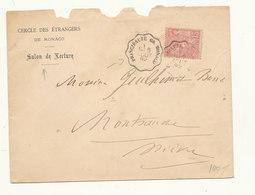 1 TIMBRE SUR LETTRE CACHET CONVOYEUR 1892 - Covers & Documents