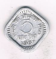 5 PAISE 1967 INDIA /2101/ - Inde