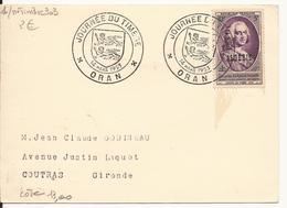 ALGERIE CARTE JOURNEE DU TIMBRE ORAN 14 MARS 1953 - Lettres & Documents