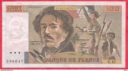 """100 Francs """"Delacroix"""" 1981 ----F/TTB+---Série C.47 - 1962-1997 ''Francs''"""