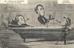 Themes Div-ref BB39- Illustrateurs -illustrateur Daumier - Jeunes Amateurs De Billard - Theme Jeu De Billards  - - Cartes Postales