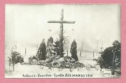 Belgique - RABOSEE - BARCHON - Carte Photo - Foto - Tombe Soldats Allemands 1914 - Deutsches Grab - Guerre 14/18 - Blégny