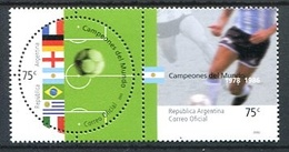 CAMPEONES DEL MUNDO DE FUTBOL DEL SIGLO XX ARGENTINA 2002 GOTTIG JALIL 3195 / 3196 MNH. SERIE COMPLETA. FOOBALL - LILHU - Coupe Du Monde