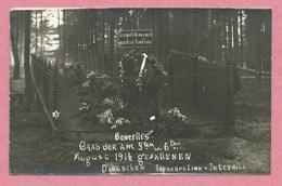 Belgique - BONCELLES - Carte Photo - Foto - Tombe Soldats Allemands 1914 - Deutsches Grab - Guerre 14/18 - Seraing