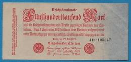 DEUTSCHES REICH 500.000 Mark25.07.1923Serie 41P.103647 P# 92 - 1918-1933: Weimarer Republik
