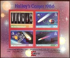 Montserrat 1987 Capex Halley's Comet Sheetlet MNH - Montserrat