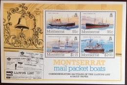 Montserrat 1984 Lloyds List Ships Minisheet MNH - Montserrat
