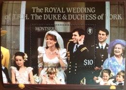 Montserrat 1986 Royal Wedding Minisheet MNH - Montserrat