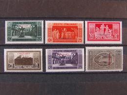 """ITALIA Colonie Cirenaica -1929- """"Montecassino"""" 6 Val. MH* (descrizione) - Cirenaica"""