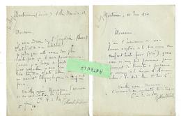 2 Lettres 1914-18 / SUISSE Montreux Villa Mercedès / Autographe Comtesse De SCEY De BRUN De Montbéliard - Autographes
