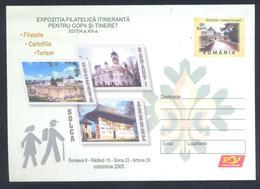 Romania 2005 Postal Stationery Cover: Scouts Scoutisme Jamboree Pathfinder; Cartographie Tourism; Architecture - Scoutisme