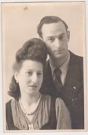 26912 Quatre Photos Couple Amoureux  Coiffure Année 40 Plage - Personnes Anonymes