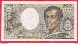 """200 Francs """"Montesquieu"""" 1982---F/TTB+---Série P.010 - 200 F 1981-1994 ''Montesquieu''"""