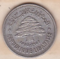 LIBAN/LIBANON. 50 PIASTRES 1952. ARGENT - Libanon