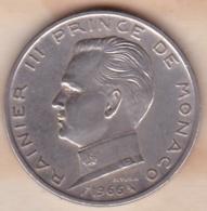 MONACO . 5 FRANCS 1966 .RAINIER III .ARGENT - Monaco