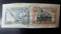 O) 1915 CIRCA-MEXICO,PROOF,  MAP OF MEXICO SCT 512 40c, VERACRUZ LIGHTHOUSE SCT 513 1p, TEPEC CANCELLATION, XF - Mexiko